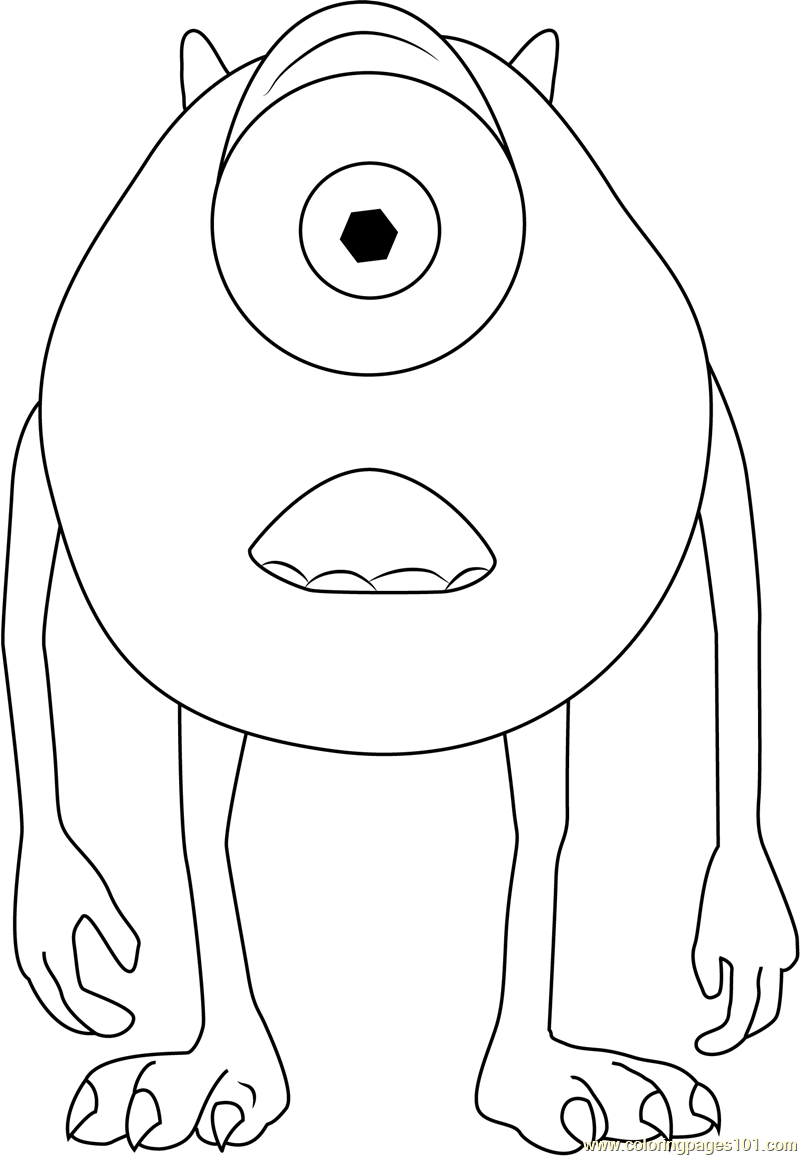 Michael a Green Monster Coloring