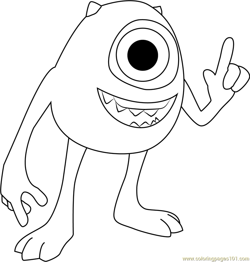 Mike Coloring Page Free Monsters Inc Coloring Pages
