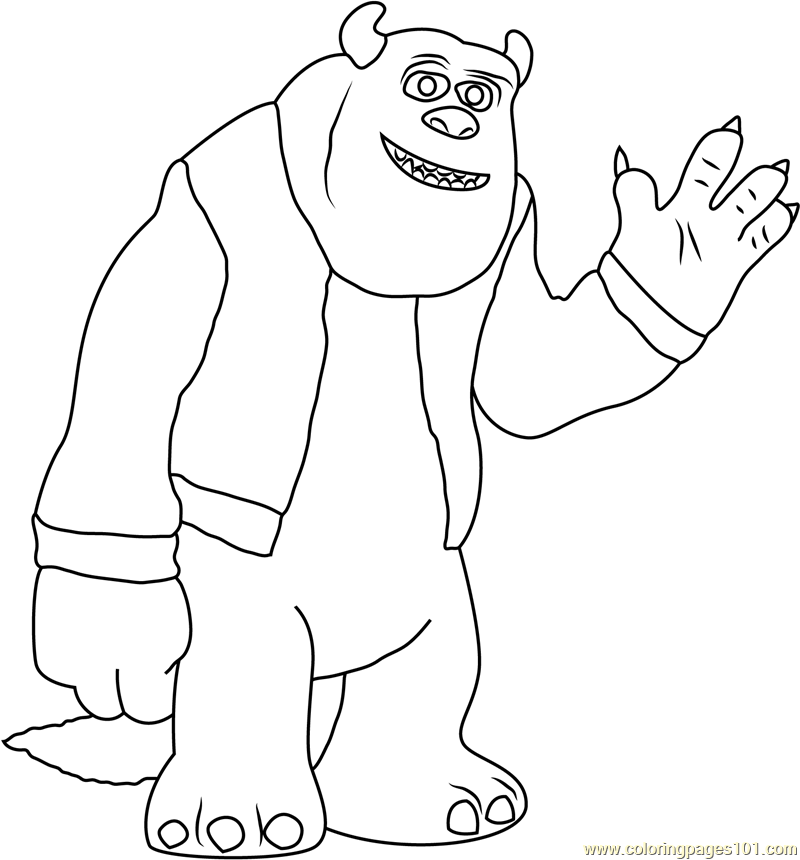 Sulley Coloring Page