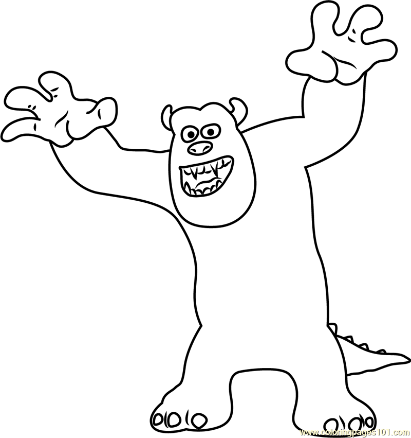 Sullivan, a Giant Furry Coloring Page