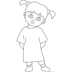 Boo Free Coloring Page for Kids