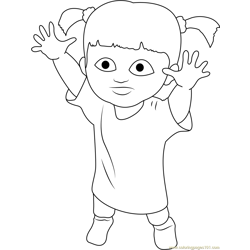 Cute Mary Free Coloring Page for Kids