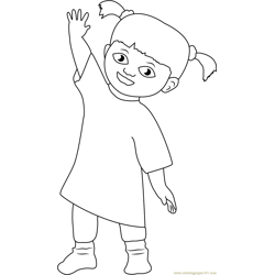 Happy Mary Free Coloring Page for Kids