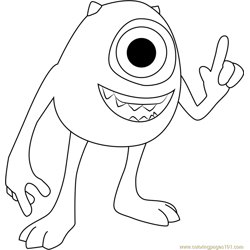 Mike Free Coloring Page for Kids