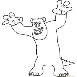 Sullivan, a Giant Furry Free Coloring Page for Kids