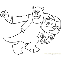 Sullivan and Michael Free Coloring Page for Kids