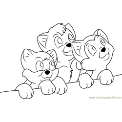 Looking Up Free Coloring Page for Kids