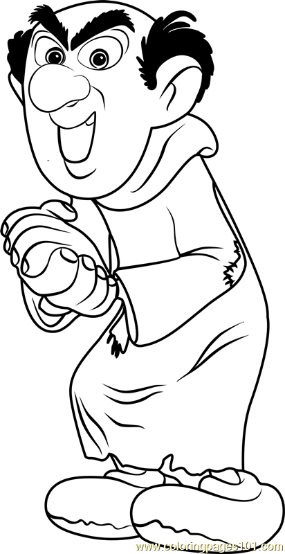 gargamel coloring page free smurfs the lost