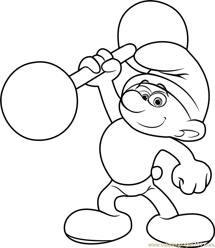 Hefty Smurf Coloring Page