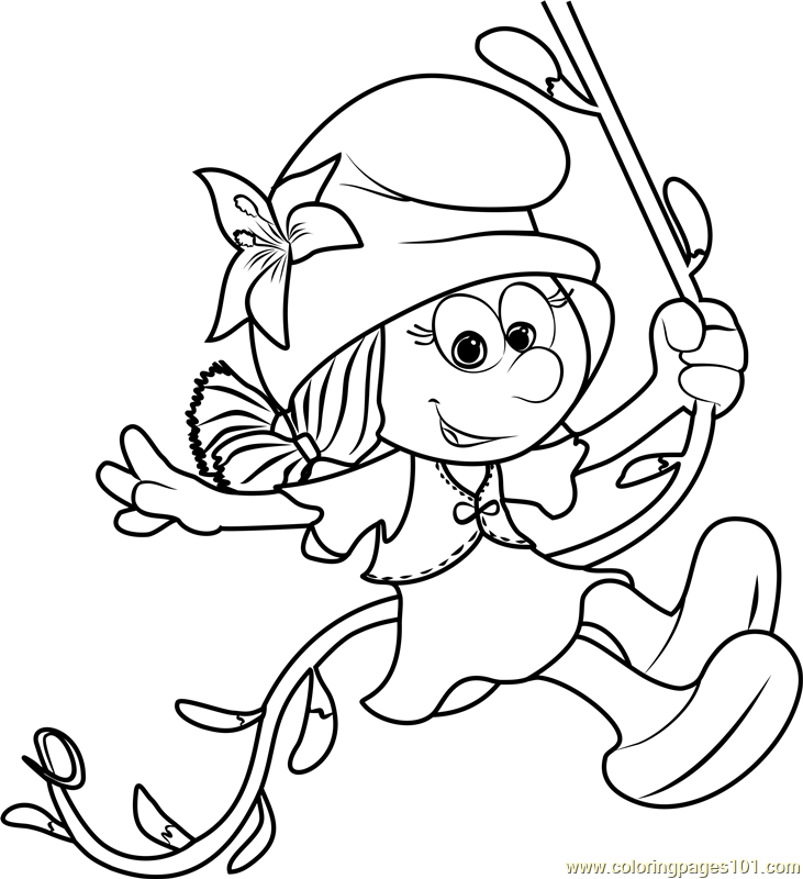 Smurflily Coloring Page - Free Smurfs: The Lost Village ...