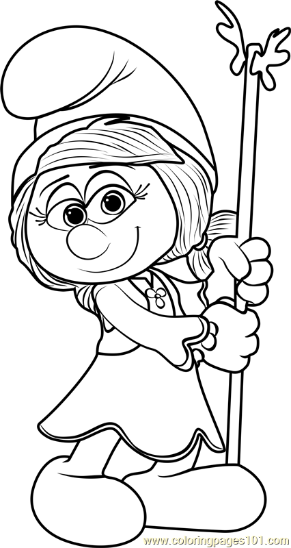 Smurfwillow Coloring Page Free