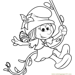 Smurflily Free Coloring Page for Kids