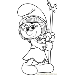 Smurfwillow Free Coloring Page for Kids