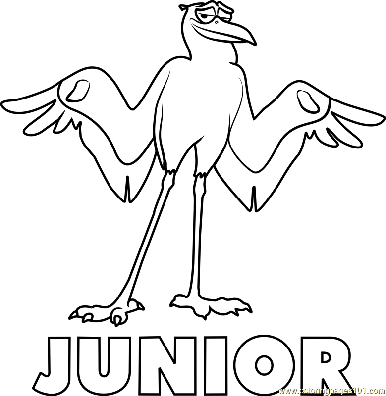 Junior Coloring Page - Free Storks Coloring Pages : ColoringPages101.com
