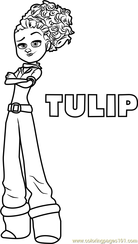 Tulip Coloring Page Free Storks Coloring Pages