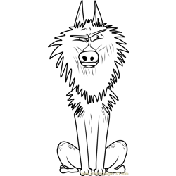Alpha Wolf Free Coloring Page for Kids