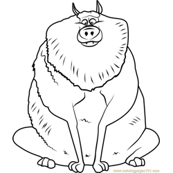 Beta Wolf coloring page