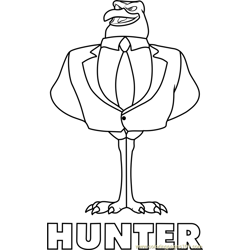 Hunter coloring page