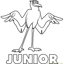 Junior coloring page