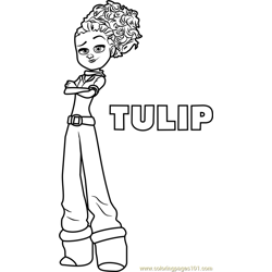 Tulip Free Coloring Page for Kids