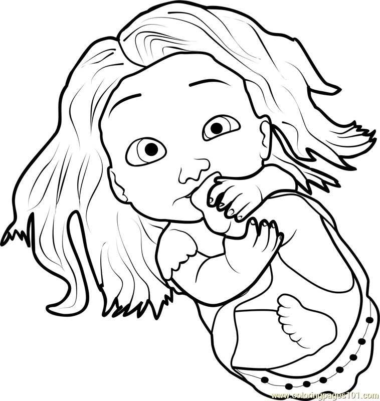 Baby Rapunzel Coloring Page Free Tangled Coloring Pages Princess Coloring Pages Baby Rapunzel Printable