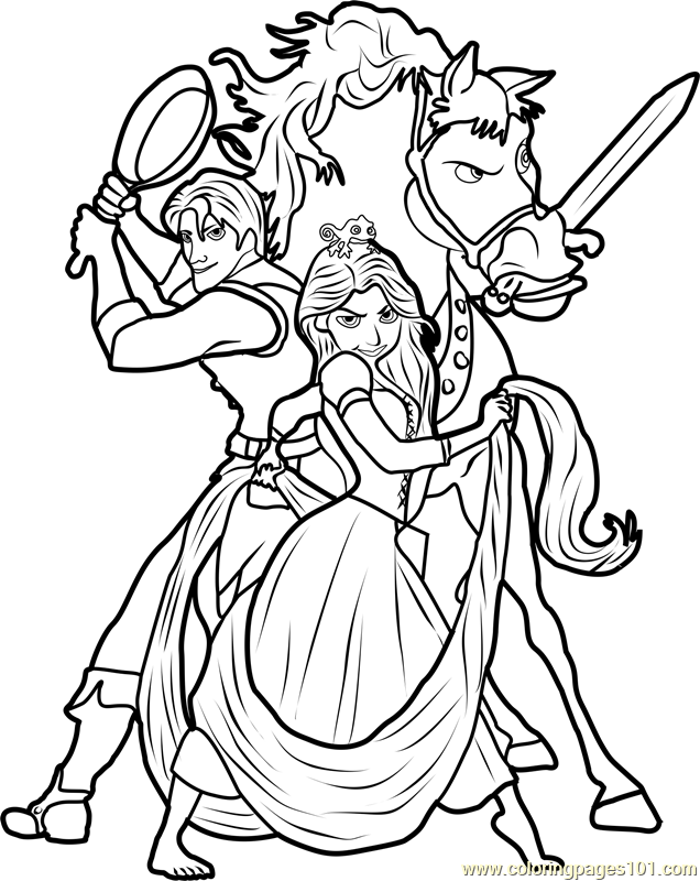 Disney Tangled Coloring Page Free Tangled Coloring Pages