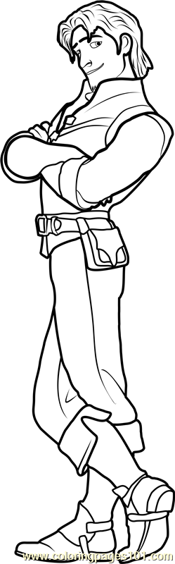Flynn Rider Coloring Page Free Tangled Coloring Pages