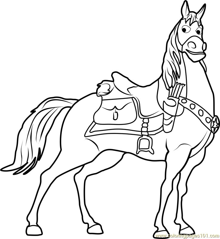 Maximus Coloring Page - Free Tangled Coloring Pages ...