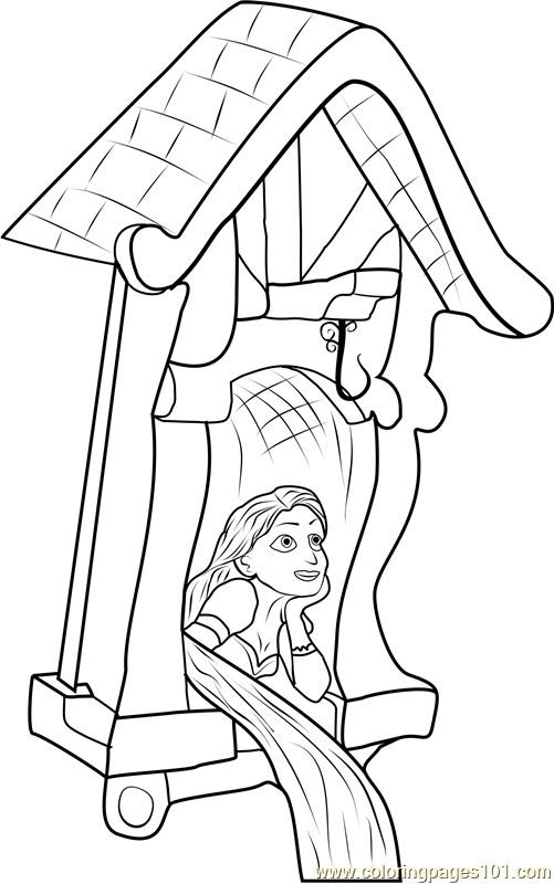Rapunzel in Castle Coloring Page Free Tangled Coloring Pages