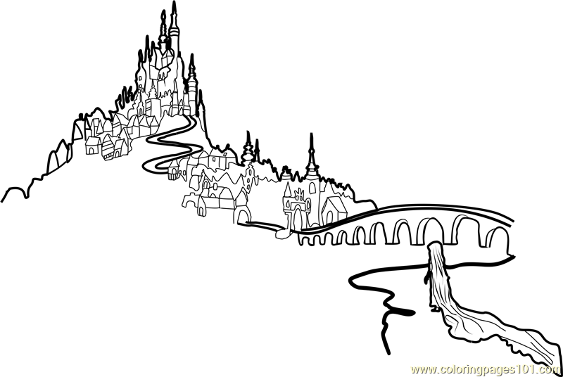 Tangled Castle Coloring Page