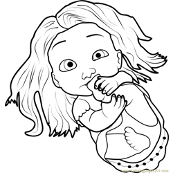 Baby Rapunzel Free Coloring Page for Kids
