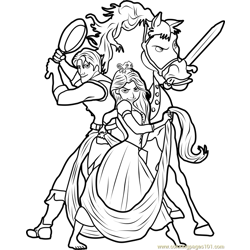 Disney Tangled Free Coloring Page for Kids