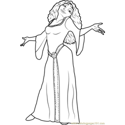 Mother Gothel Free Coloring Page for Kids