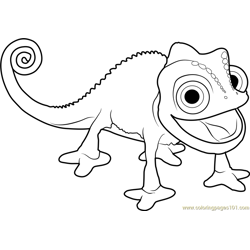 Pascal the Chameleon coloring page