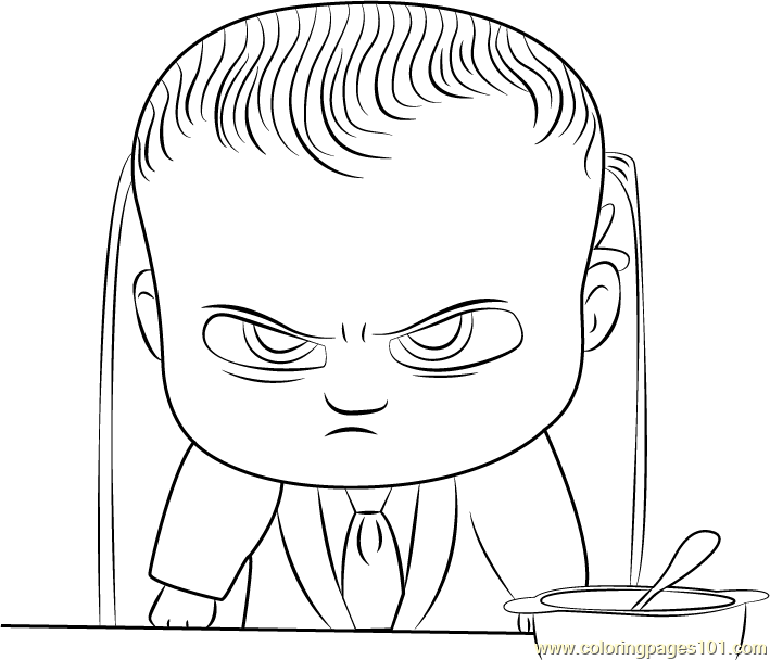 Angry Boss Baby Coloring Page