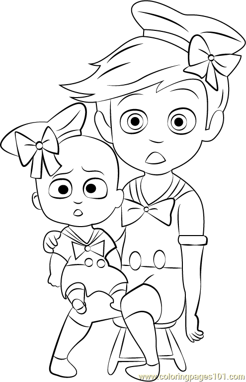 Boss Baby Costume Coloring Page
