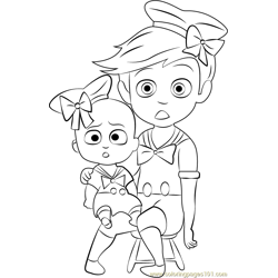 Boss Baby Costume Free Coloring Page for Kids