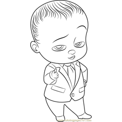 Boss Baby Free Coloring Page for Kids