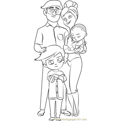 Templeton Family coloring page