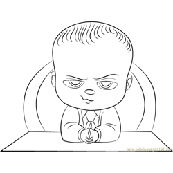 The Boss Baby Free Coloring Page for Kids