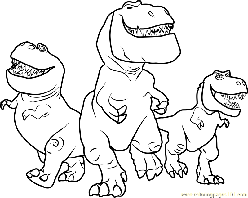 Butch, Nash and Ramsey Coloring Page