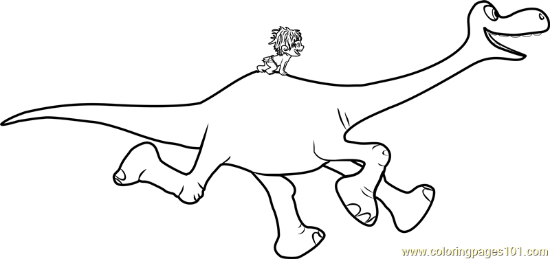 Spot riding Arlo Coloring Page