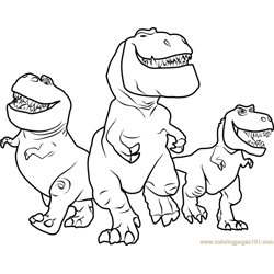Butch, Nash and Ramsey Free Coloring Page for Kids