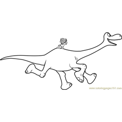 Spot riding Arlo Free Coloring Page for Kids