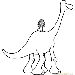 The Good Dinosaur Free Coloring Page for Kids