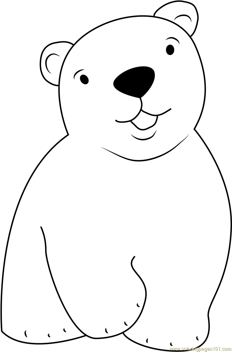 Cute little polar bear coloring page free the little for Coloring pages polar bear