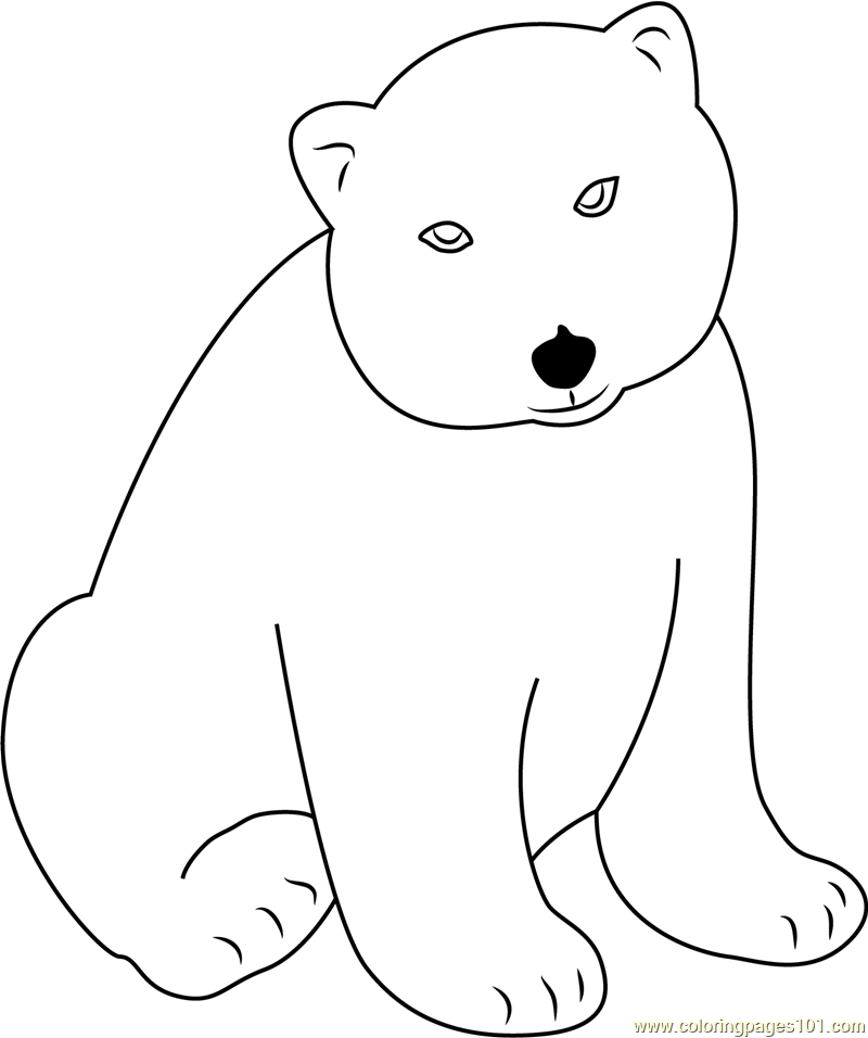 Little Polar Bear Lars Coloring Page