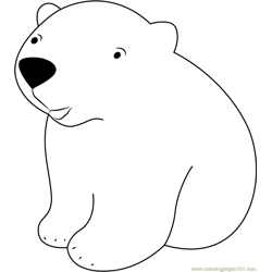 Baby Polar Bear Free Coloring Page for Kids