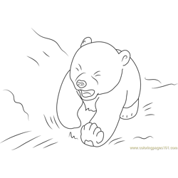 Little Polar Bear Lars Crying Free Coloring Page for Kids