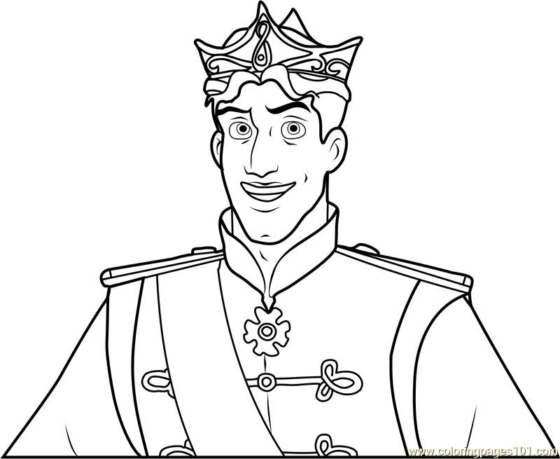 It is a photo of Old Fashioned Prince Coloring Page